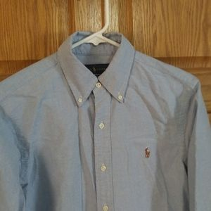 Ralph Lauren Women's Small Blue Button Down Shirt